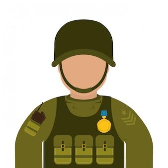 Ilustración de diseño de ejército