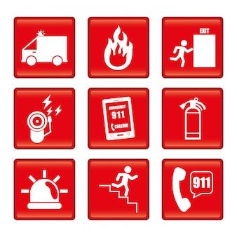 Ilustración de diseño de emergencia