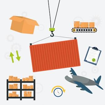 Ilustración de diseño de entrega