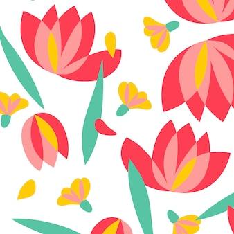 Ilustración de diseño floral patrón de vectores