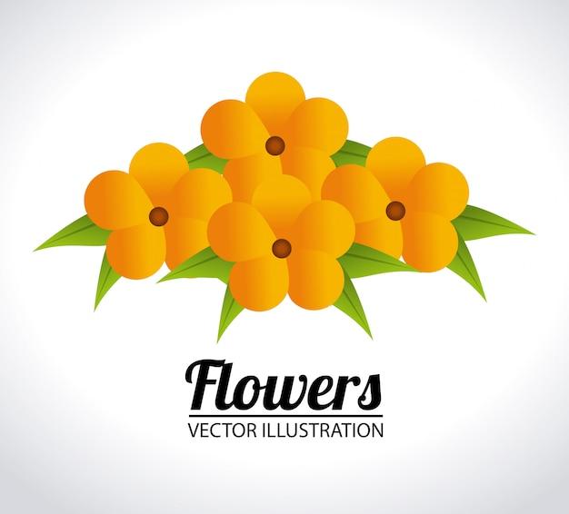Ilustración de diseño de flores
