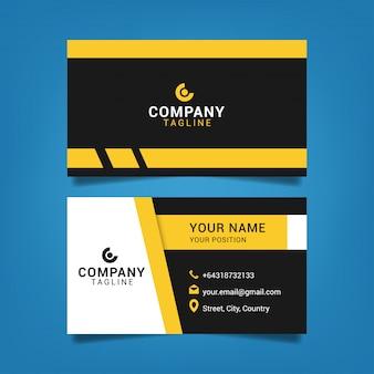 Ilustración de diseño gráfico de plantilla de tarjeta de visita moderna