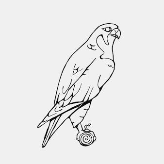 Ilustración con diseño de halcón