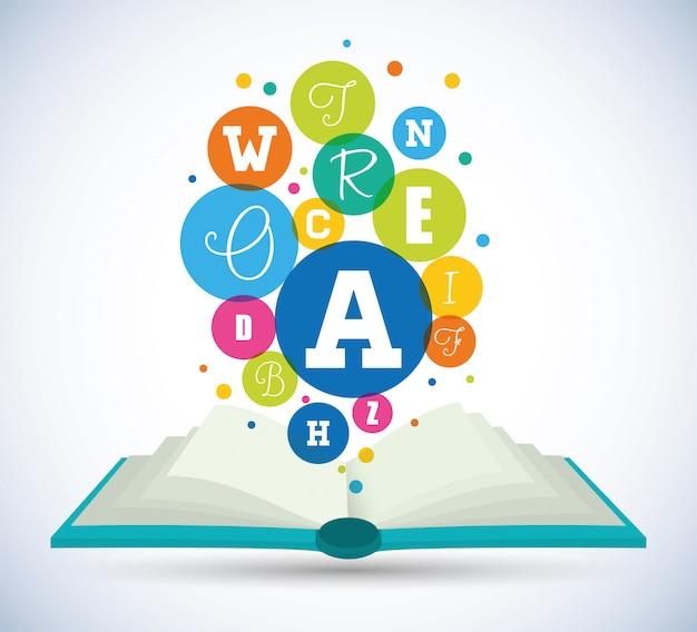 Ilustración de diseño de libros