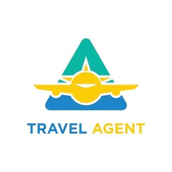 Ilustración de diseño de logo de vector de icono de viaje
