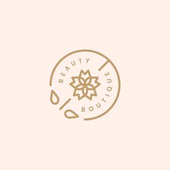 Ilustración de diseño de logotipo de boutique de belleza