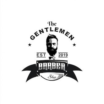 Ilustración de diseño de logotipo de caballeros