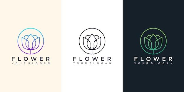 Ilustración de diseño de logotipo de flor