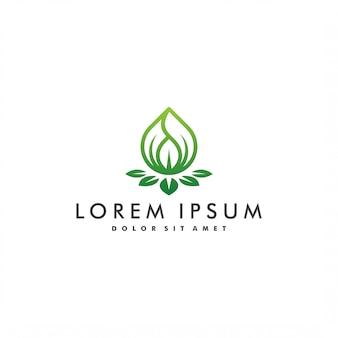 Ilustración de diseño de logotipo de gota de agua de naturaleza