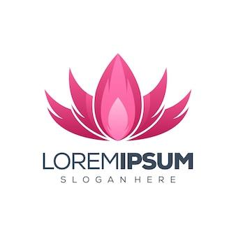 Ilustración de diseño de logotipo de lotus