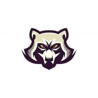 Ilustración de diseño de logotipo de mapache