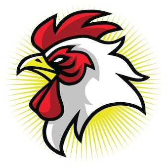 Ilustración de diseño de logotipo de mascota gallo