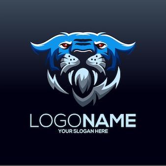 Ilustración de diseño de logotipo de tigre