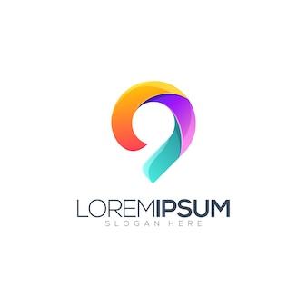 Ilustración de diseño de logotipo de ubicación
