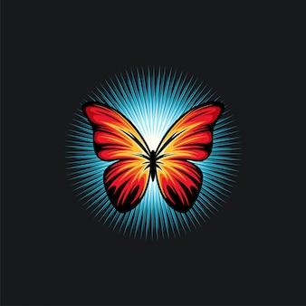 Ilustración de diseño de mariposa