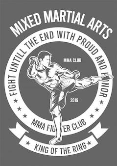 Ilustración de diseño de mma