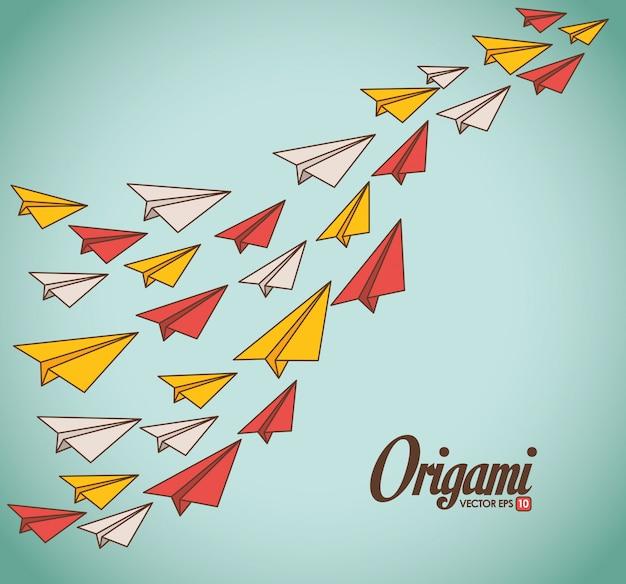 Ilustración de diseño de origami