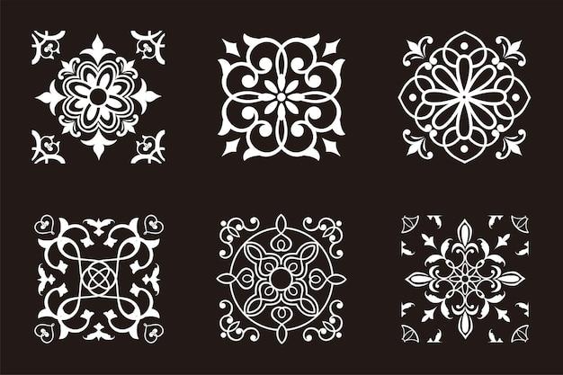 Ilustración de diseño de ornamento cuadrado