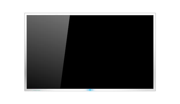 Ilustración de diseño de pantalla de tv en blanco