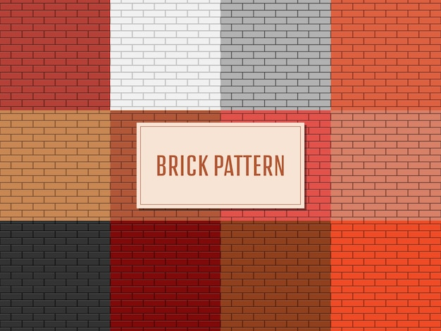 Ilustración de diseño de patrón de pared de ladrillo