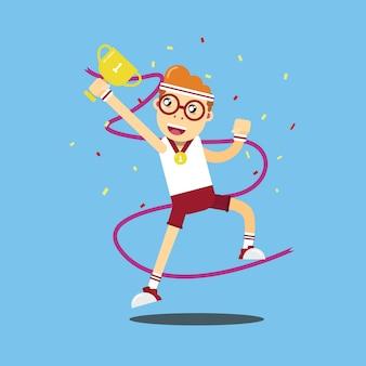 Ilustración del diseño de personajes deportivos