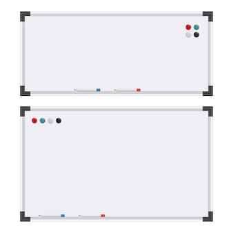 Ilustración de diseño de pizarra blanca aislada sobre fondo blanco