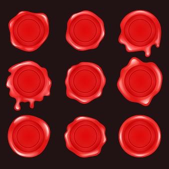Ilustración de diseño plano de sello de cera