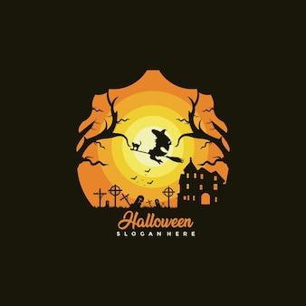 Ilustración de diseño de plantilla de hallowen feliz