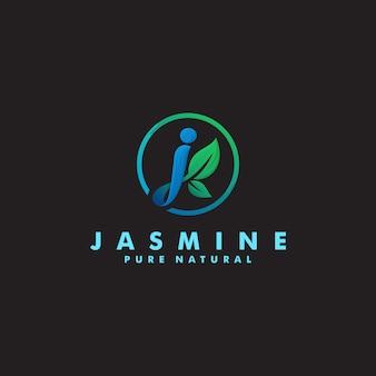 Ilustración de diseño de plantilla de logotipo orgánico letra j