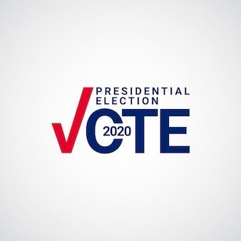 Ilustración de diseño de plantilla de votación de elecciones presidenciales