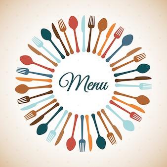 Ilustración de diseño de restaurante