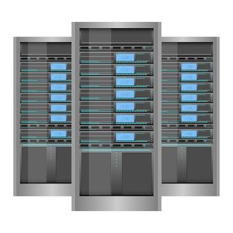 Ilustración del diseño del servidor de datos aislada