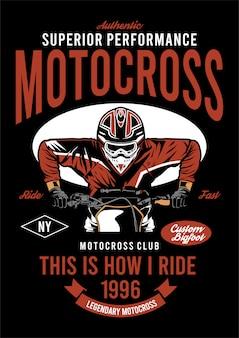 Ilustración de diseño super motocross