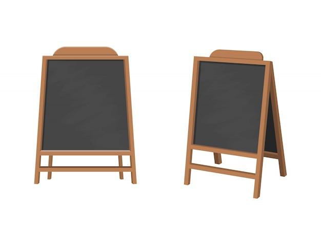 Ilustración de diseño de tablero de menú aislado sobre fondo blanco