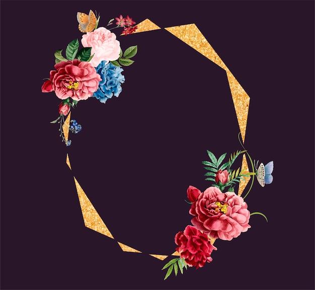 Ilustración de diseño de tarjeta de marco floral