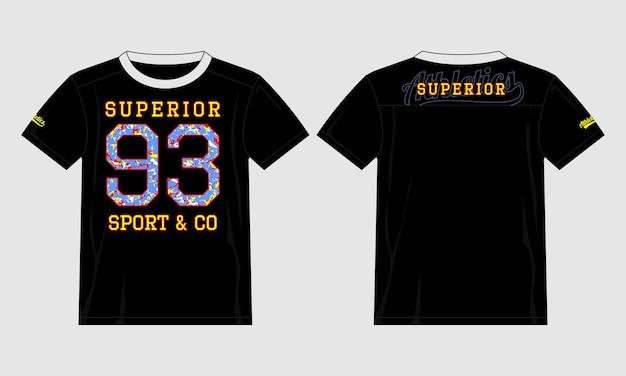 Ilustración de diseño de vector de camiseta de tipografía superior 93 premium vecto