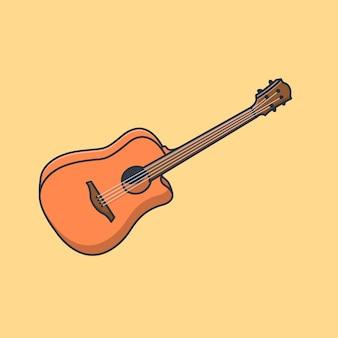 Ilustración de diseño de vector de guitarra realista