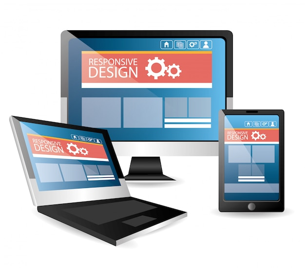 Ilustración de dispositivos de tecnología