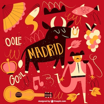 Ilustración divertida de madrid