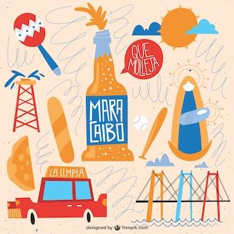 Ilustración divertida de maracaibo