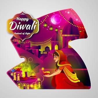 Ilustración de diwali