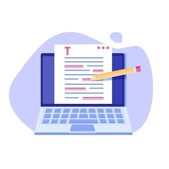 Ilustración de documento en línea editable.