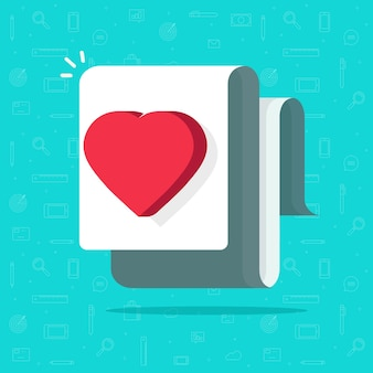 Ilustración de documento médico de salud, idea de carta de corazón de amor similar, imagen de concepto de deseo