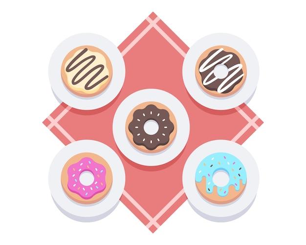 Ilustración de donas dulces