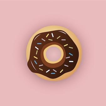 Ilustración de donut de estilo plano