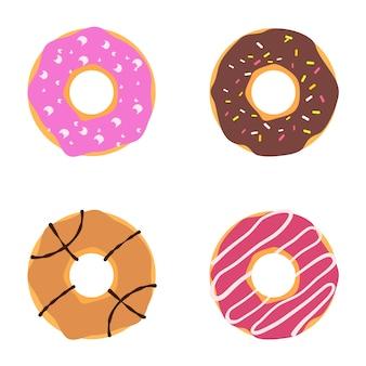 Ilustración de donut de vector
