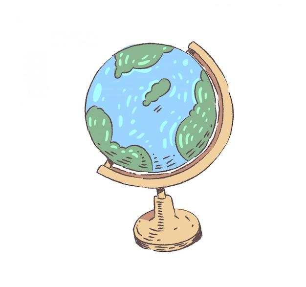 Ilustración de doodle de globo