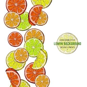 Ilustración del doodle de limón.