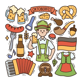 Ilustración de doodle de oktoberfest