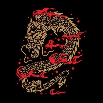 Ilustración del dragón